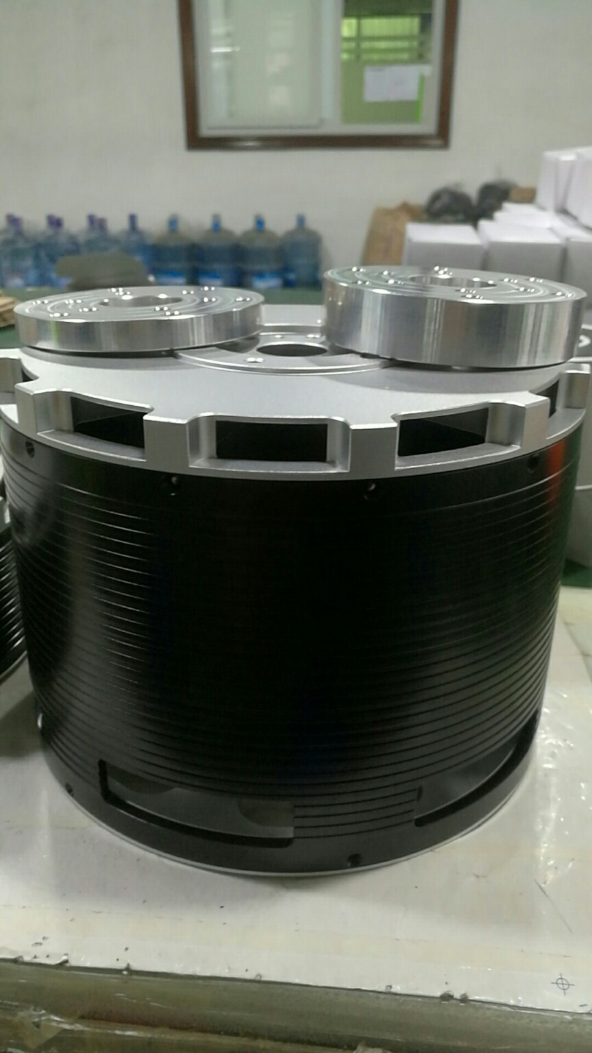 MP154120 50KW brushless Halbach Array motor
