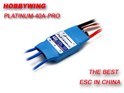 Hobbywing Platinum 40A PRO ESC 2-6 cells lithium battery