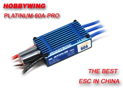 Hobbywing Platinum 60A PRO ESC 2-6 cells lithium battery