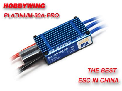 Hobbywing Platinum-80A ESC for Aircraft and Heli