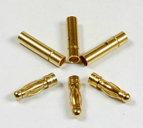Golden Plated Connector 3mm 3 pairs
