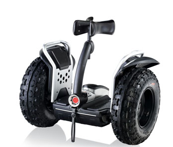 Electric 2 wheel hands free scooter for film makers
