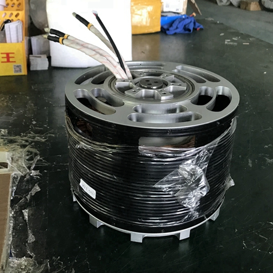 100KW large brushless motor 150 plus hp halbach array motor