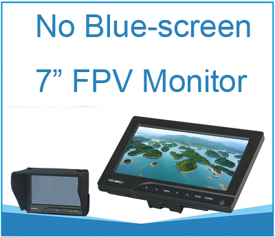 Color: Monitor with sunhood Hockus Accessories RC FPV Monitor NO Blue 7 LCD Color 1024x600 Video Screen 7 inch Sun Hood for RC Multicopter Quadcopter Ground Station QAV250