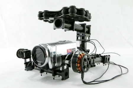 Dual axle Carbon fiber brushless-gimbal for 5N GH2 GH motor