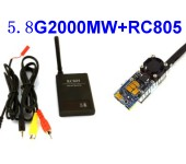 5.8G FPV 2W 12 Ch 2000mW Wireless Audio Video Transmitter + RC80