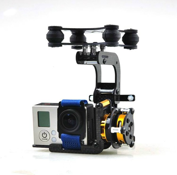 Dual axle suspension Carbon fiber brushless gimbal kit