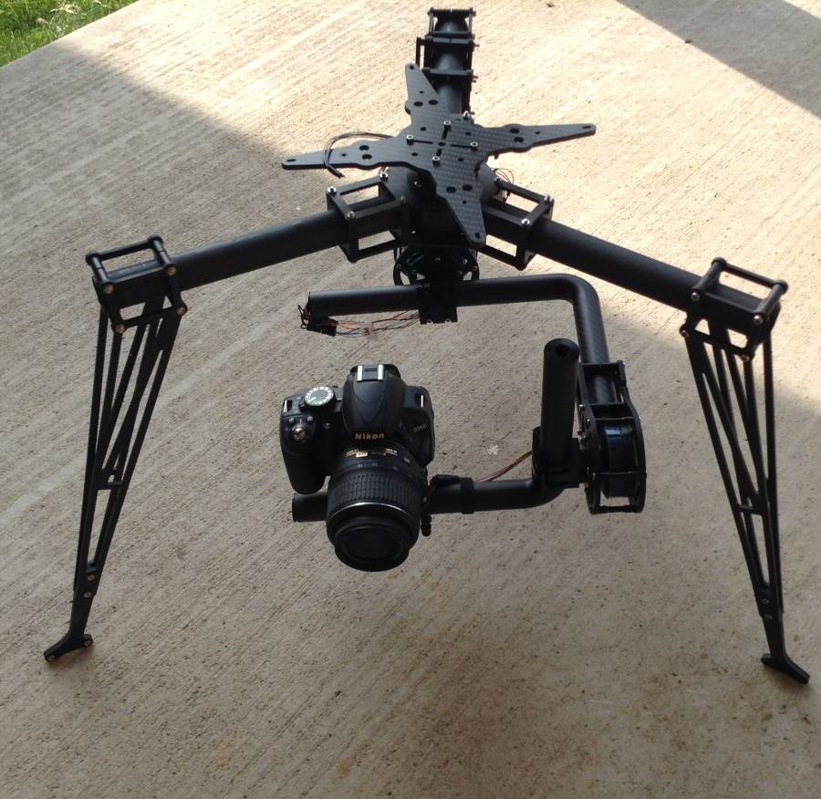 AERIAL 3axis 360 degrees brushless gimbal for copter RTF