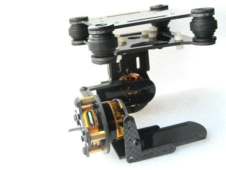 Dual axle suspension Carbon fiber brushless gimbal