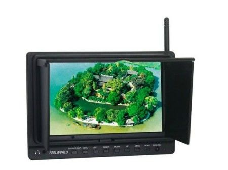 8 inch 800x480 Resolution FPV Monitor W/Light Shield+5.8G Receiv