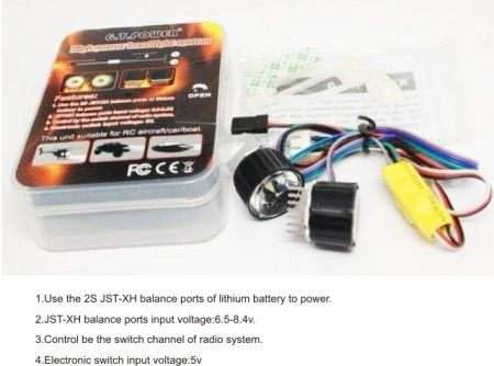 GT POWER RC Model High Power Headlight System for RC Aircraft