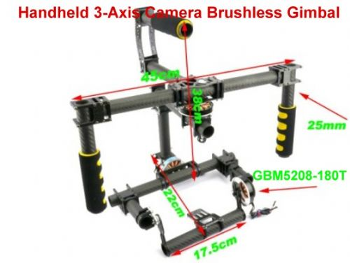 3-Axis Camera Brushless Gimbal for Canon 5D2 Kit W/ 3x Motors