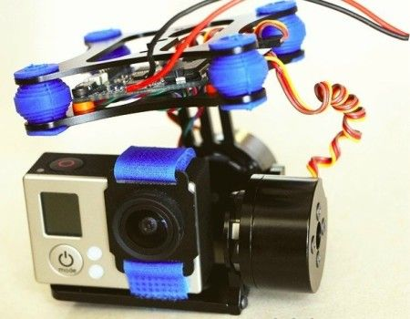 RTF Full Metal 2-Axis Brushless Gimbal Gopro 2/ Gopro 3