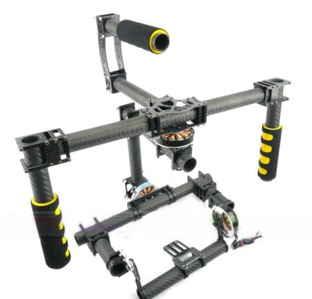 Handheld 3Axis Brushless Gimbal DSLR 2.5kg 2 x 2-axis controller