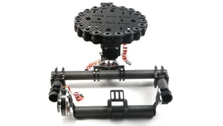 FC Carbon Fiber 3-axis Brushless Gimbal Camera Mount + motors