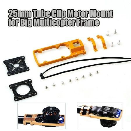 Motor Mount ESC Holder Bracket for 25mm CNC Aluminum Alloy