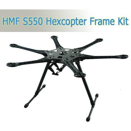 S550 Hexcopter fram kit with gopro hero3 2 axis brushless gimbal