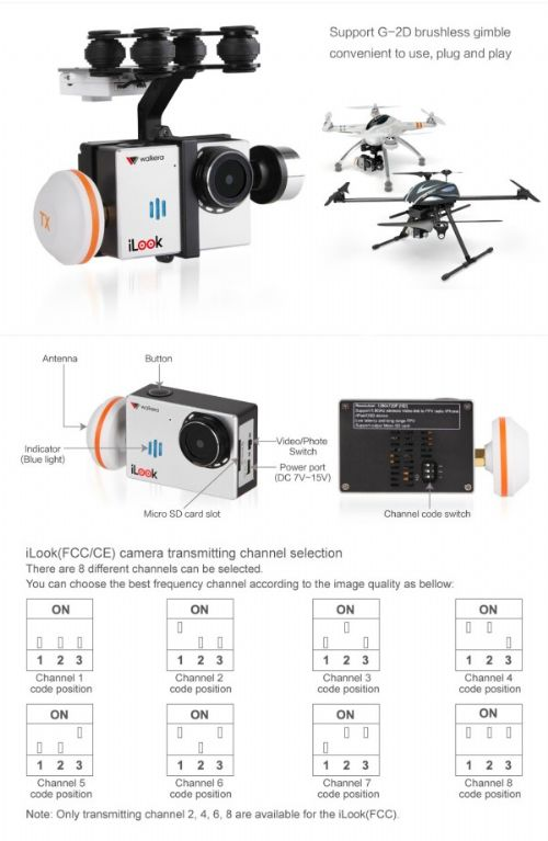 iLOOK HD Resolution Hight Performance FPV Camer by Walkera