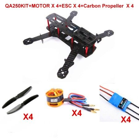 Carbon Fiber Mini 250 FPV Quadcopter Frame kit+Motor+ESC+propell