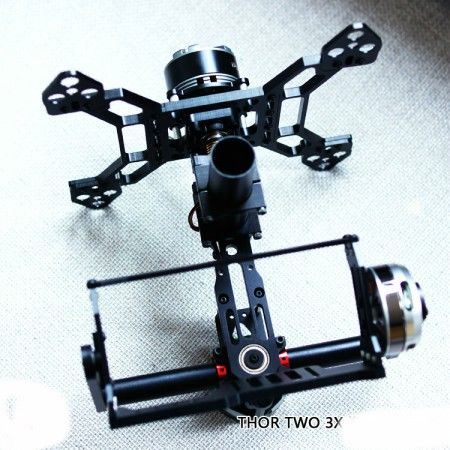 Two 3 Axis Aluminum Alloy Brushless Gimbal for 5N 7N GH2