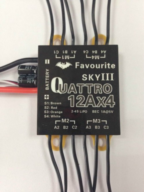 12A 4 in 1 ESC Speed Controller for 250 Quadcopter CC3D FPV