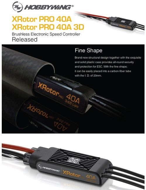 Hobbywing Xrotor-40A-3D Speed Controller for Multicopter 2pcs