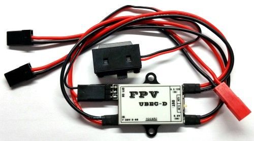 2-6S FPV UBEC-D FOR 1.2G 5.8G Wireless Audio Video