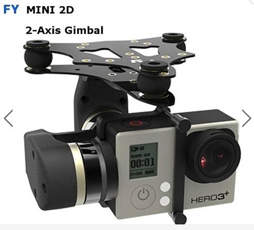 Feiyu Tech FY MiNi2D 2-Axis Brushless Gimbal For Gopro