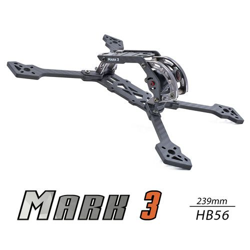 Geprc Mark3 HB56 239mm Wheelbase 5mm Arm 3K Carbon Fiber Frame