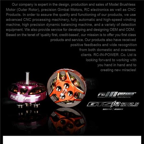 RCINPower GTS V2 1202.5 6000KV 3-4S Brushless Motor for RC Drone FPV Racing Models Spare Part DIY Accessories