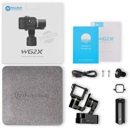 Camera Gimbal for GoPro Hero Feiyu Tech WG2X Waterproof Wearable