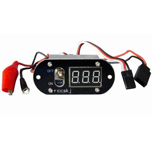 Rccskj 3 In 1 Methanol Nitro Ignition Voltmeter Digital Display