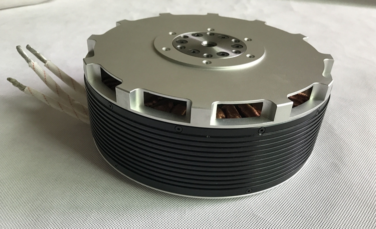 MP154120 40KW brushless Halbach Array motor