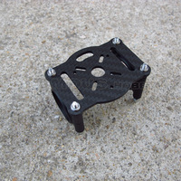 CS054 motor mount A with plastic clamps