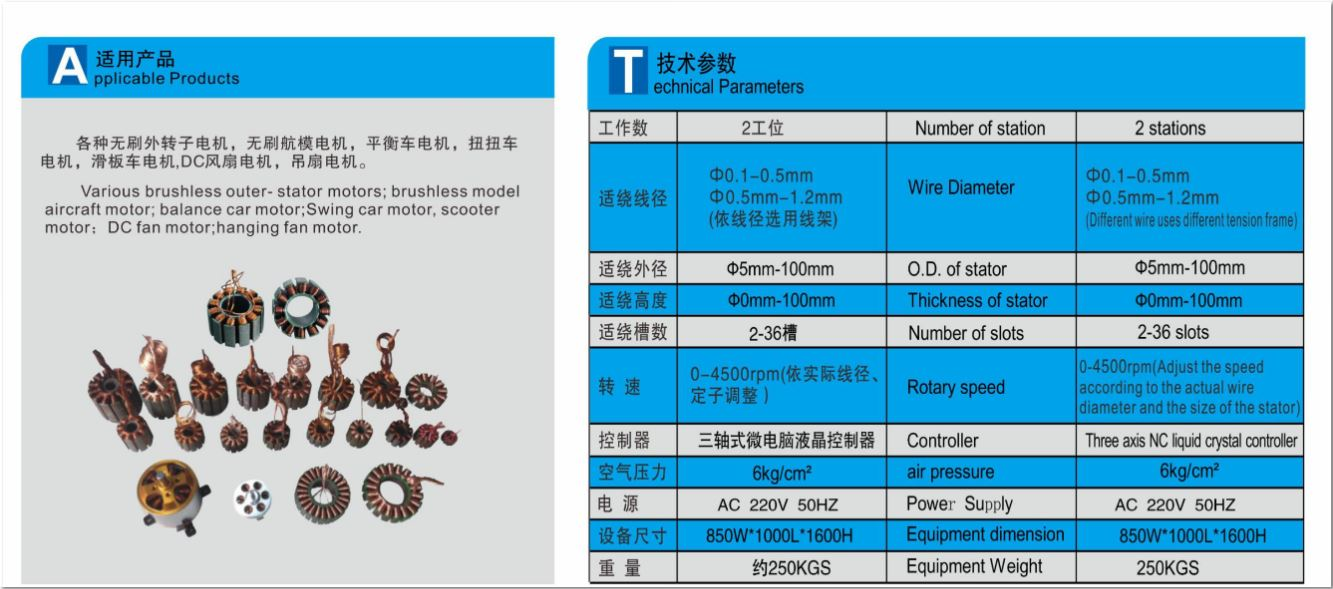 Double stater Motor Winding system BGC & RC brush less motors