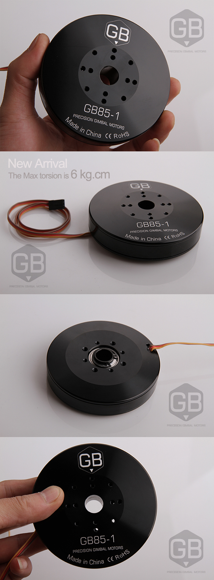 RCTiger GB85 sealed brushless gimbal motor