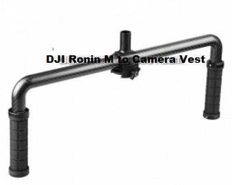 DJI Ronin M to Camera Vest 25mm aluminum connector with handle