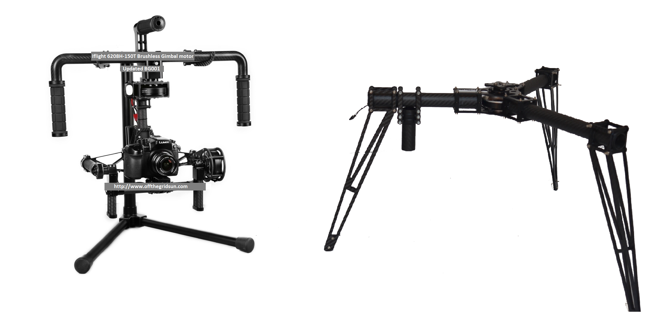 CINESTAR 3 Axis Brushless GIMBAL system & Steadicam LANDING GEAR