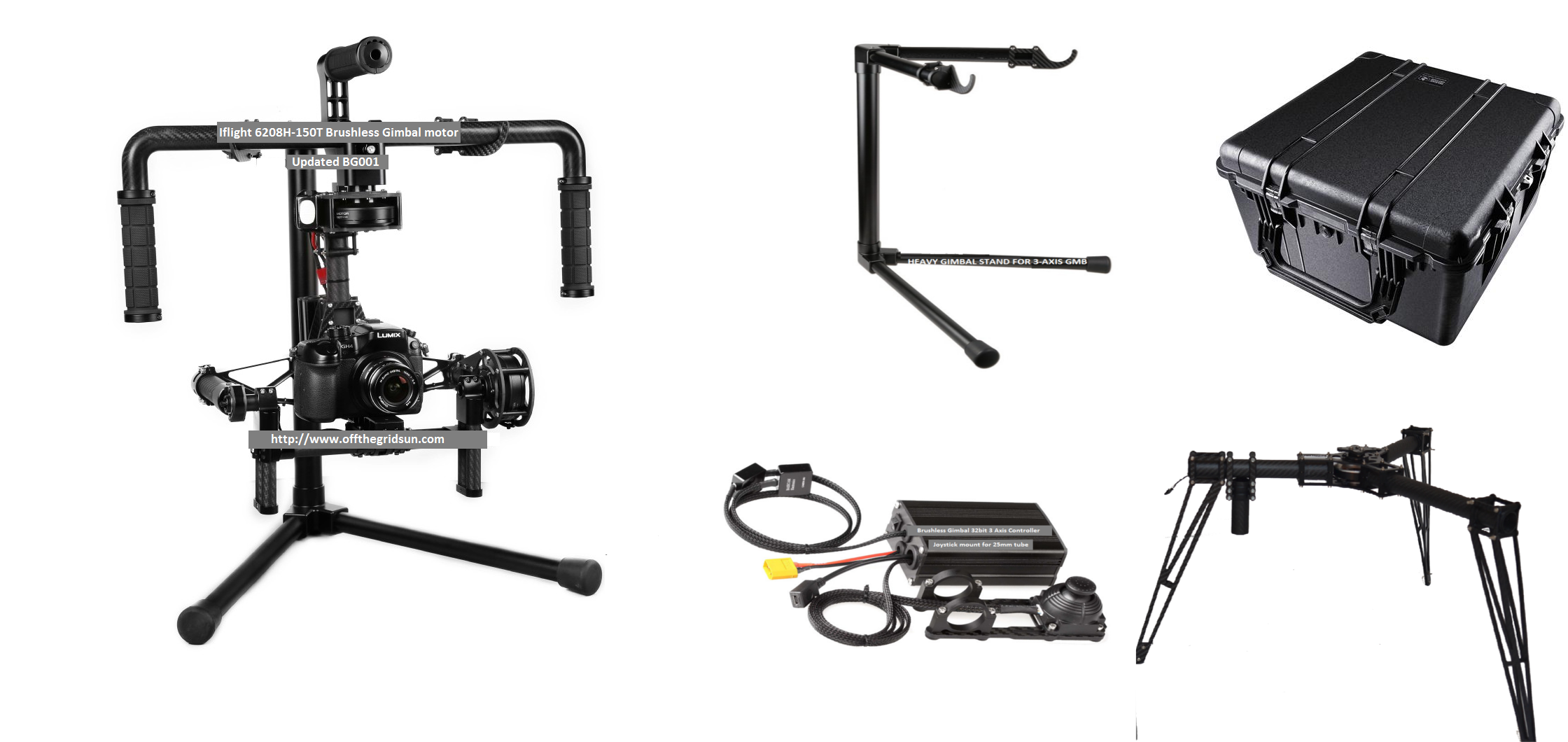 CINESTAR 3 Axis Brushless GIMBAL system & Steadicam LANDING GEAR - Click Image to Close
