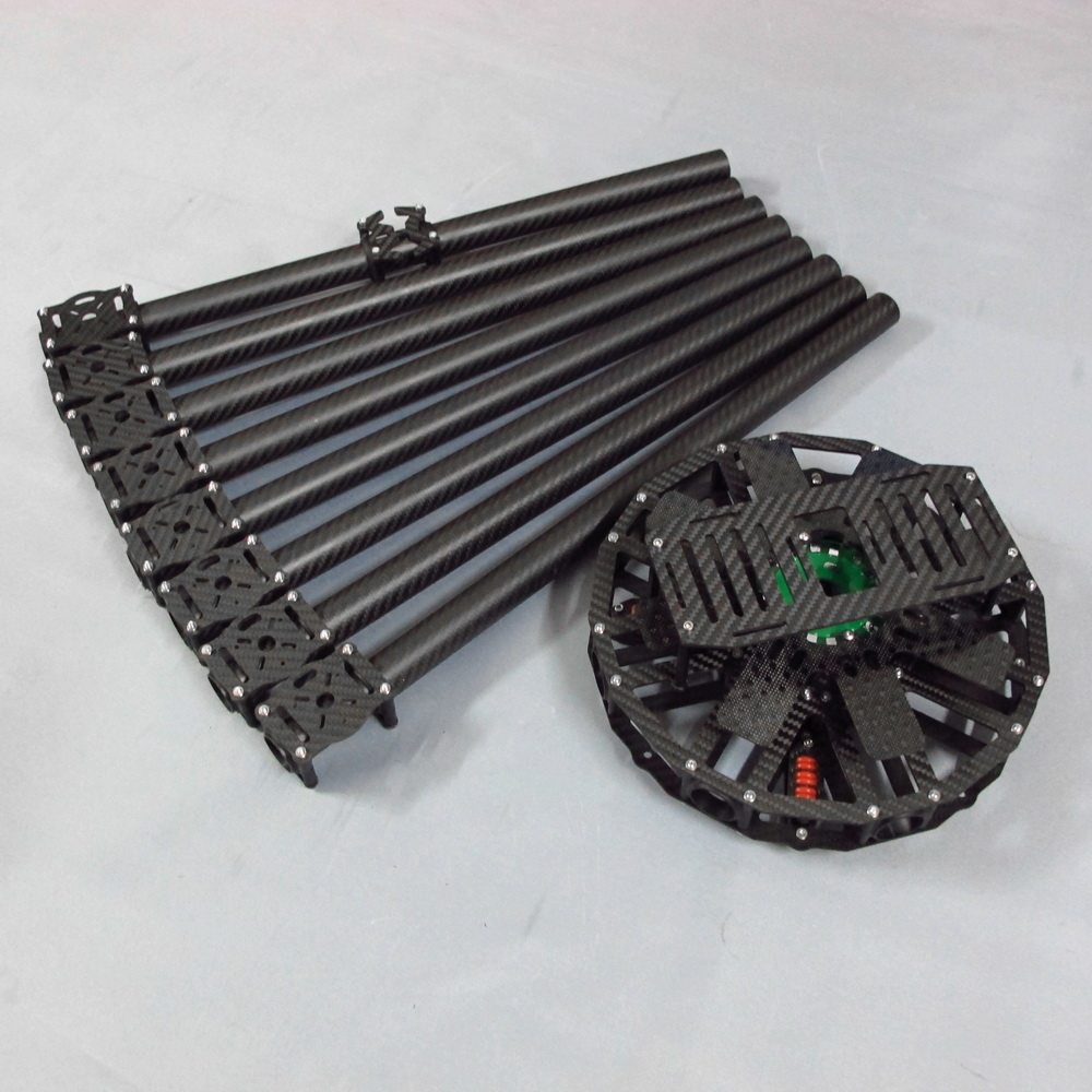 Octocopter KIT 8-Axis Carbon Fiber square tube upgrade & clamps