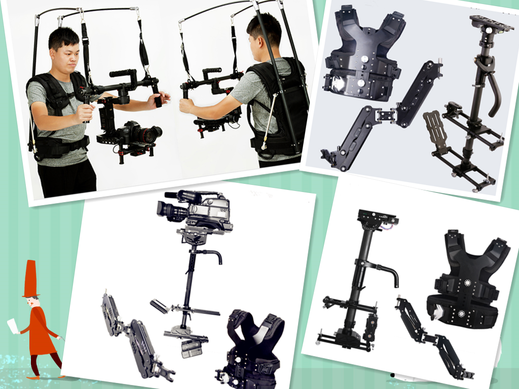 SUPPORT ARM STABILIZER VEST SYSTEM FOR ACTION CAMERA SHOOT