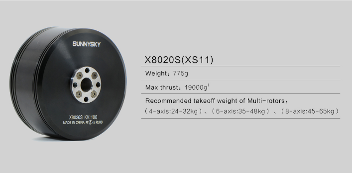 Sunnysky X series professional heavy lift motors X8020S 100kv