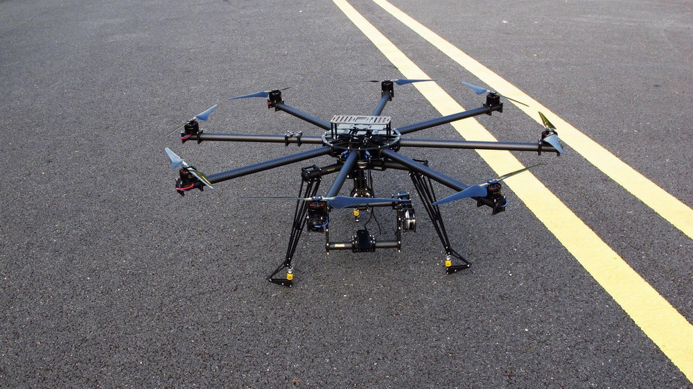 Octo Copter CF Frame + brushless gimbal with 3 X Gimbal 180T mot