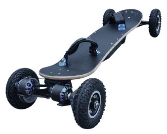 Dule motor electric skateboard K9 off with road wheels 10 unit