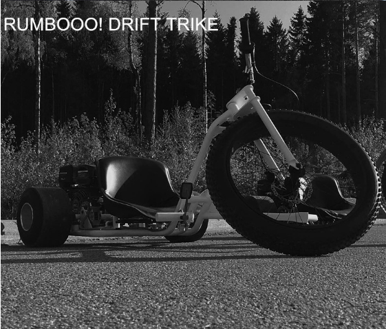 Drift Trike mini 196cc black upgraded pull start 6.5hp 100mph